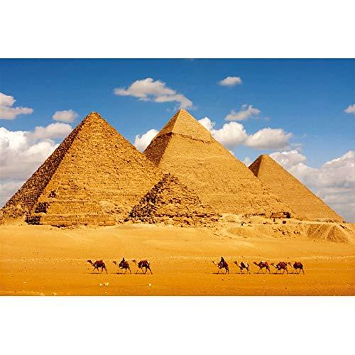 TONGSH Puzzles Una de Las Siete Maravillas del Mundo en el Desierto, la Pirámide de Egipto, Juguetes educativos del Rompecabezas Tarjeta de los niños Adultos (Color : 300Tablets)