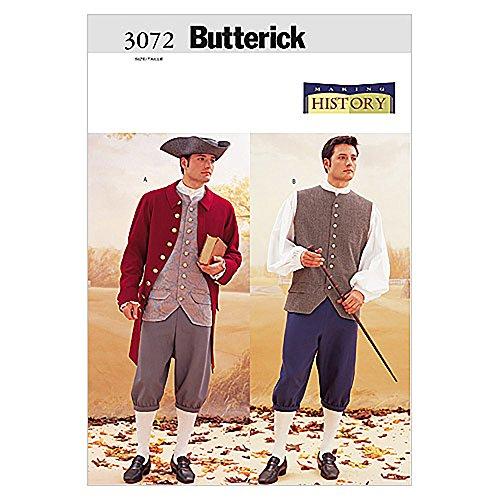 BUTTERICK B3072320 Revolutionary War Historical Men's Costume Sewing Pattern, Sizes 32-36