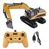 Dilwe Escavatore RC, 1:14 23 Canali Escavatore Interamente in Metallo Elettrico Auto da Costruzione Telecomandato