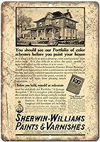 シャーウィンウィリアムズペイントとワニス錫サイン壁の装飾金属ポスターレトロプラーク警告サインオフィスカフェクラブバーの工芸品