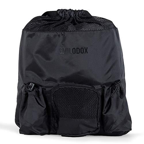 SMILODOX Backpack WONDER I Ideal für Fitness Sport Gym & Reisen | Rucksack | Reisetasche - Tasche, Farbe:Schwarz