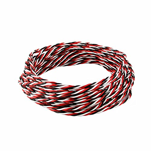OliYin 32 feet DIY FUTABA Color 22# 22AWG 60 Cores Servo Extension Cable Twisted Wire for RC Model