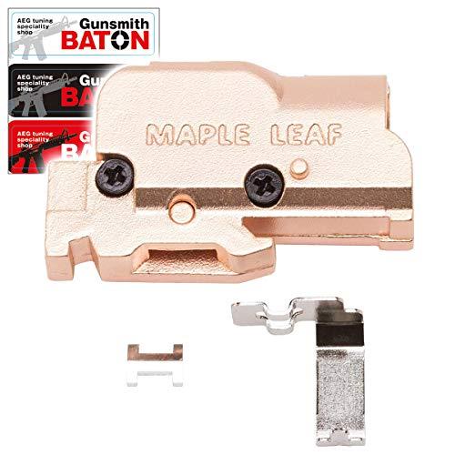 [ MAPLE LEAF ] Zinc alloy ホップアップチャンバー [ IKEY セット : 長掛ホップ化 ] [ Gunsmith BATON ステッカー付属 ] (グロック系用)