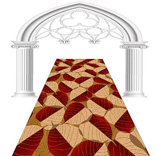 Pasillo Pasillo corredor Alfombra de pasillo Runner, La Alfombra 3D hojas de color naranja Patrón pasillo corredor Reduzca Mantas Anti Slip Pasaje Cocina Alfombras Mats, 100x500cm ( Size : 80x100cm )