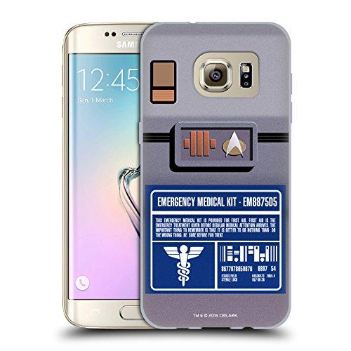Head Case Designs Licenza Ufficiale Star Trek Kit Medico Gadgets TNG Cover in Morbido Gel Compatibile con Samsung Galaxy S7 Edge