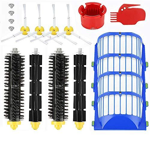 ATING Kit de filtro de cepillo lateral de repuesto para iRobot Roomba 600 Series 610 620 630 650 660 670 680