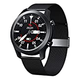 Smart Watch, SANAG Fitness Watch Blood Pressure Heart Rate Sleep Monitor Fitness Tracker, Message Notification, IP68 Waterproof Pedometer Bluetooth Smartwatch for iPhone and Android Phones (Black)