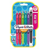 Paper Mate Medium Point Ink Joy Gel Pen - Assorted Student Colours (Pack of 6)