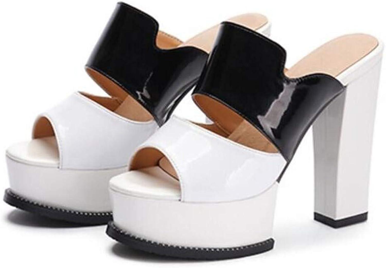 IWlxz Women's Nappa Leather Summer Sandals Stiletto Heel White Black