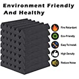 ZHERMAO 24 Packs Acoustic Foam Panels Sound Proof Padding 2' X 12' X 12', Studio Foam Wedge Tiles High Density Sound Proof Foam Panels Soundproofing Foam Ideal for Home & Studio Sound Insulation