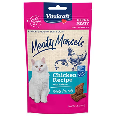 Vitakraft Meaty Morsels Chicken Recipe for Cats, Extra Meaty, Gently Oven-Roasted