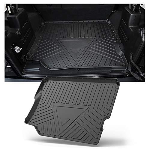SHAOHAO für Jeep Wrangler JL 2018-2021 Kofferraummatte, Kofferraum mit Kofferraummatte TPO 3D High Frame Autoteile ausgekleidet,Viertürige Version