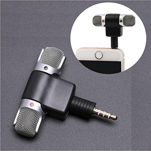 Iusun Mini Professional Recorder Stereo Voice Digital Mic Microphone Portable For Smartphones PC (B)
