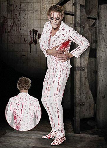 Boland 79095 Costume da Uomo Mr Slaughter, Taglia 54/56, Bianco/Rosso