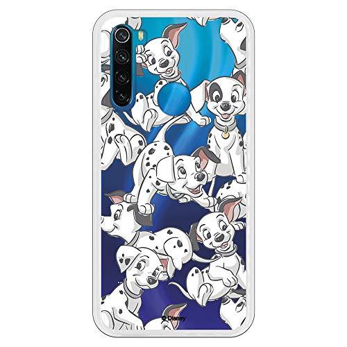 Funda para Xiaomi Redmi Note 8 Oficial de 101 Dálmatas Cachorros Siluetas para Proteger tu móvil. Carcasa para Xiaomi de Silicona Flexible con Licencia Oficial de Disney.