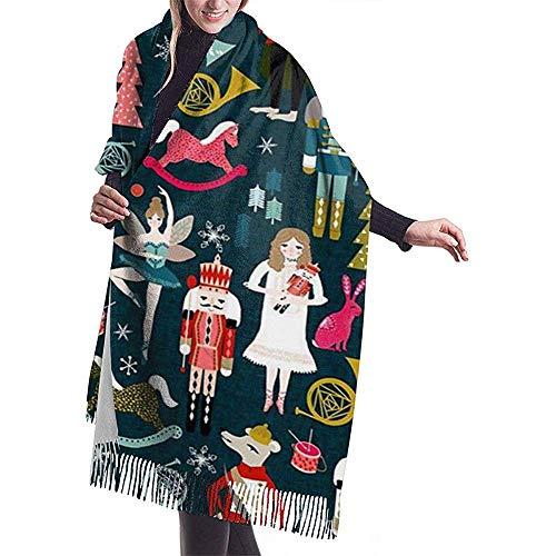 Laglacefond De notenkraker vrouwen sjaal-winter-verpakking-kop-sjaaltjes