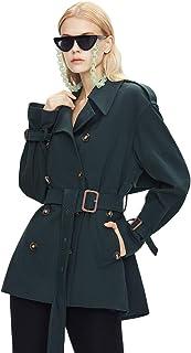 Grneric Short Windbreaker Femminile Piccolo, Stile straniero Mostra Alto Nuovo Stile Verticale Anti Rughe Cappotto Inglese...