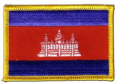 Flaggen Aufnäher Kambodscha Fahne Patch + gratis Aufkleber, Flaggenfritze®