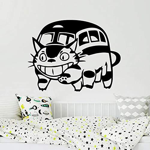 Dibujos animados gato gato autobús vinilo pared totoro coche pared vecino totoro gato autobús