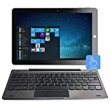 10.1 Windows 10 Tablet PC 2 en 1 computadora portátil con Pantalla táctil, Intel Quad Core 1.44 GHz / 4GB RAM + 64GB / IPS / Cámara Doble / Teclado Americano / MicroMobile Office /Wi-Fi/Bluetooth4.0