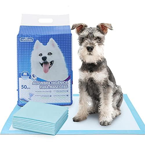 Nobleza - 50 x Empapadores Perros Alfombrilla higiénica de Entrenamiento para Perros. Ultraabsorbente 60cm*60cm.