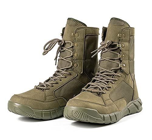 Zapatillas de Senderismo Botas de Senderismo Verano Impermeable Hombres y Mujeres luz Antideslizante Respirable Desierto a pie Exterior Montañismo Zapato (41,Verde)