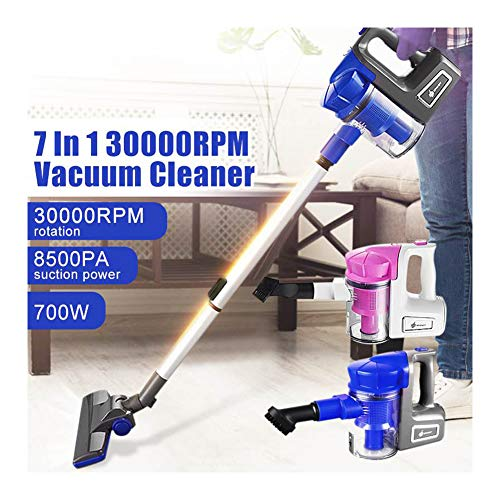 Read About KIKBLW Portable Ultra-Quiet Vacuum, 7 in 1 700W Extension Tube 4 Brushes Vacuum Cleaner H...