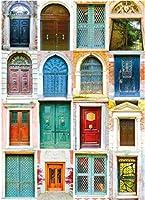 数字油絵 フレームレス 、数字キット塗り絵 手塗り DIY-大人の初心者の子供-多くのドア-40x50 cm
