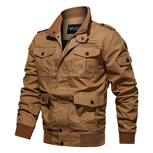 HOSD New Men Herbst Winter Military Jacke Baumwolle Bomberjacke Mantel Navy Pilot Jacke Air Force Casual