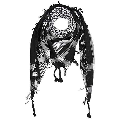 Superfreak Palituch - schwarz - weiß - 100x100 cm - Pali Palästinenser Arafat Tuch - 100% Baumwolle