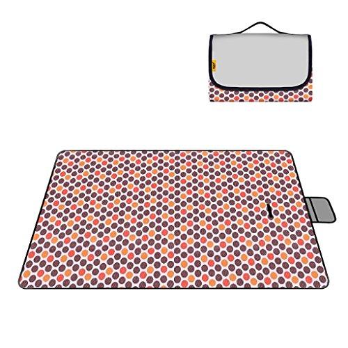 LXLA- Pliable étanche à l'humidité Camping pique-nique Tapis sauvage Tapis de tissu couverture portable Oxford tissu PVC 200 * 150 cm Nombre applicable: 3-4 personnes ( Couleur : Style 3 )