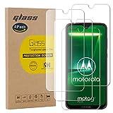 pinlu [4 Stück] Panzerglas Bildschirmschutzfolie für Motorola Moto G7 Plus Transparent Glasfolie Protector 9H Festigkeitgrad Schutzglas,99prozent Transparenz,Einfaches Anbringen