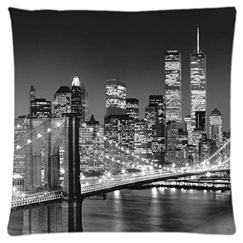 Astilnet Imprimé New York City Canapé Home Decor Motif Throw Taie d'oreiller Housses de coussin carré 45,7 cm
