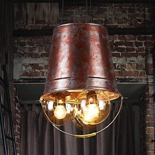 KK Gabby Lámparas De Barril De Agua Vientos Industriales Retro Plancha Artística Personalizada Lámpara Colgante De 3 Cabezales Restaurante Bar Escalera Pasillo Luz Decorativa E27