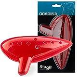 Stagg OCA-PL RD - 0carina de plástico, color rojo