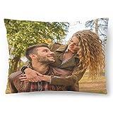Personalisiertes FOTOGESCHENK mit eigenem Foto (60 x 40 cm) Foto-Kissen mit Deinem Foto & Text Bedrucken Zum Jahrestag, Geburtstag, Valentinstag (mit Füllung) Foto Full 60x40 [091]