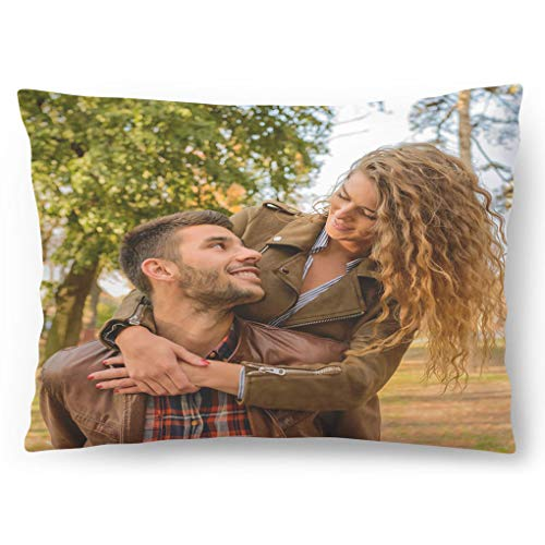 Cuscino Personalizzato con Foto 60 x 40 Regalo per San Valentino, Compleanno, Festa della Mamma Foto Full Print [081]