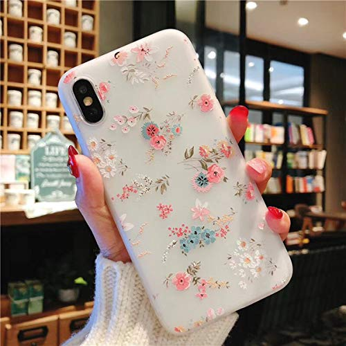 Compatible iPhone XR Case for Girls, Floral Flower Cute Case Ultra-Thin Slim Soft TPU Silicone Cover Phone case for iPhone XR 6.1 Inch(Flower B)