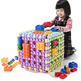 UNiPLAY Big Cube Blocks - Waffle Play Huge Pieces - Interlocking Snap-Together Blocks - 6-Piece Multi-Module Set
