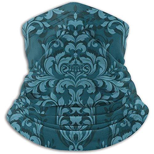 Linger In Blue Floral Texture Neck Gaiter Face Mask Bandana Seamless Headband Ski Riding Running