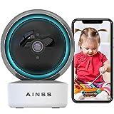 Baby Monitor Telecamera 2.4Ghz WiFi Interno Babyphone Funziona con Alexa IP Videocamera 1080P HD PTZ 355°/80° Tracciamento Automatico Audio Bidirezionale Visione Notturna Allarme App 【Telecamera+32G】