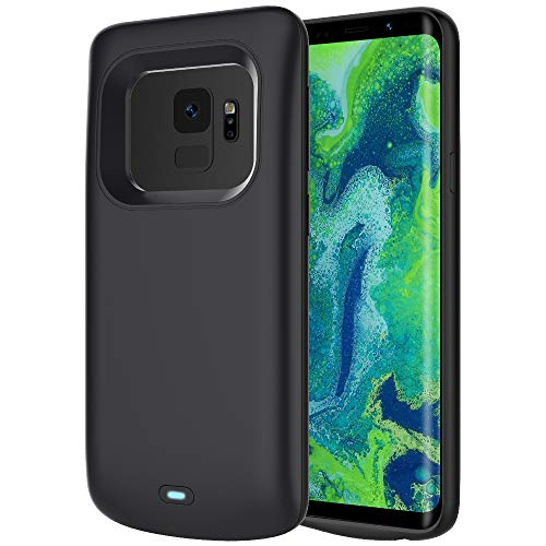 [Upgraded] RUNSY Battery Case for Samsung Galaxy S9, 4700mAh Rechargeable Extended Battery Charging Case, External Battery Charger Case, Add 100% Extra Juice