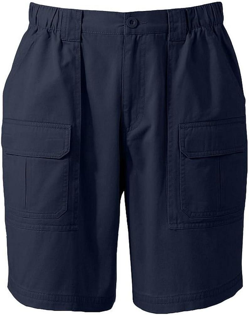 Croft/Barrow Big & Tall Side Elastic Twill Cargo Shorts. 52 Blue