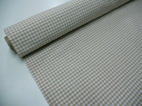Confección Saymi Metraje 1,40 MTS Tejido Vichy, Cuadro pequeño 5x5 mm. Color Beig, con Ancho 2,80 MTS.
