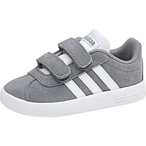 adidas Unisex Baby VL Court 2.0 CMF Hausschuhe, Grau (Gris/Ftwbla/Gricua 000), 22 EU
