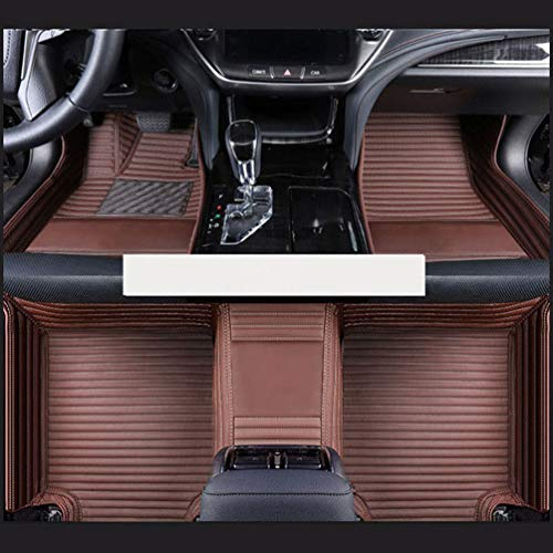YOWAX para Peugeot RCZ 308 508 301 301 307 207 2008 3008 4008 206 408 5008 607 2017 2018 2019 Alfombrillas De Cuero Artificial para El Piso del AutomóVil Almohadillas Impermeables