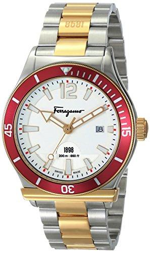SALVATORE FERRAGAMO FF3140014 - Reloj de Pulsera Hombre, Acero Inoxidable, Color Bicolor