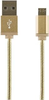 STREETZ 1 m USB typ A Ha till Micro B Ha metallpläterad USB 2.0-kabel – guld