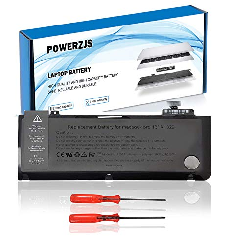 zijingshu A1322 laptop battery for MacBook Pro 13'(A1278 mid 2009 mid 2010 early 2010 late 2011 late 2011 mid 2012) MacBook Pro 13' MC374CH / A MC375LL / A MB990J / A [Li-Polymer 10.95V 63.5Wh]