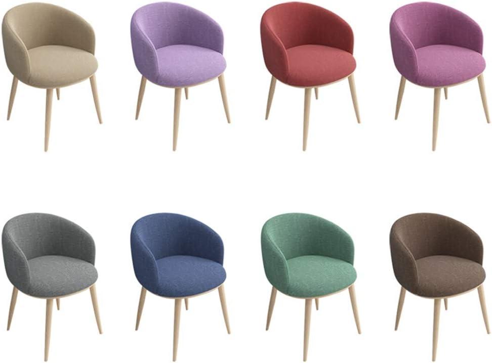 LSRRYD Chaise De Cuisine Chaises Salle Manger Jambes En Métal De Style Bois, Rembourrage En Tissu Confortable (Couleur : Violet) Gray
